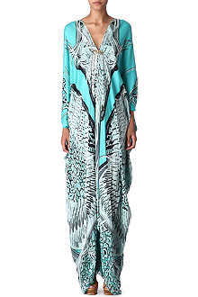 ROBERTO CAVALLI Long silk kaftan dress
