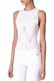 ROBERTO CAVALLI Pointelle knitted top