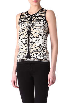 ROBERTO CAVALLI Animal print sleeveless top