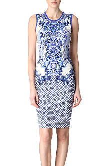 ROBERTO CAVALLI Printed crepe dress