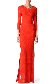 ROBERTO CAVALLI Crochet-knit maxi dress