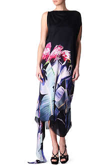 ROBERTO CAVALLI Asymmetric kaftan maxi dress