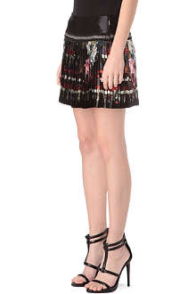 ROBERTO CAVALLI Floral-print pleated skirt