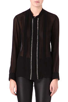 ROBERTO CAVALLI Chain detail silk shirt