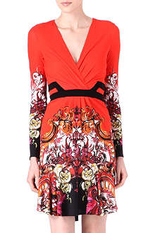 ROBERTO CAVALLI Printed wrap dress