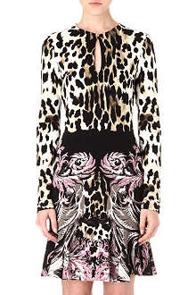 ROBERTO CAVALLI Printed crepe-jersey dress