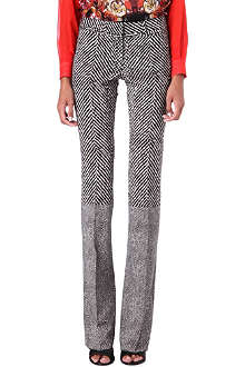 ROBERTO CAVALLI Tweed bootcut trousers