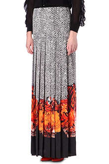 ROBERTO CAVALLI Pleated maxi skirt