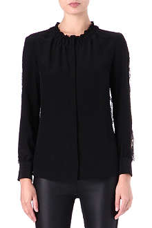 ROBERTO CAVALLI Silk and lace blouse