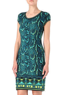 ROBERTO CAVALLI Knitted python dress