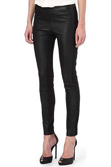 ROBERTO CAVALLI Contrast leather trousers