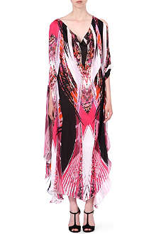 ROBERTO CAVALLI Printed silk kaftan dress