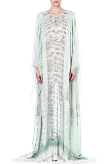 ROBERTO CAVALLI Silk animal scale kaftan