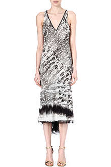 ROBERTO CAVALLI Sleeveless v-neck dress