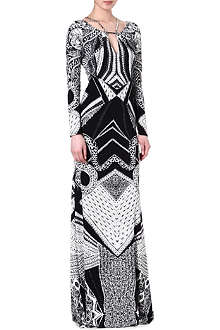 ROBERTO CAVALLI Abstract geometric maxi dress