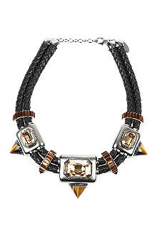 ROBERTO CAVALLI Tiger eye rope necklace