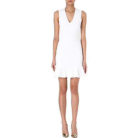 ROBERTO CAVALLI Textured dress (White