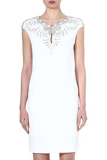 ROBERTO CAVALLI Embellished crepe dress
