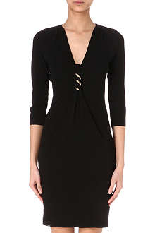 ROBERTO CAVALLI Brooch-embellished jersey dress