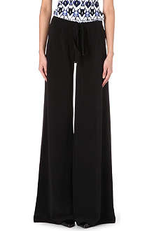 ROBERTO CAVALLI Wide-leg silk trousers