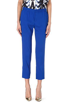 ROBERTO CAVALLI Slim-fit silk-blend trousers