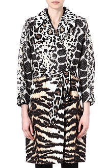 ROBERTO CAVALLI Animal-print trench coat