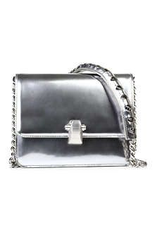 ROBERTO CAVALLI Metallic leather cross-body bag
