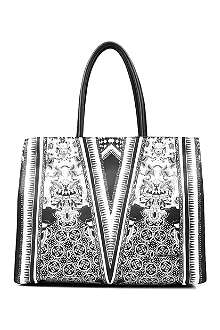 ROBERTO CAVALLI Floral leather tote bag