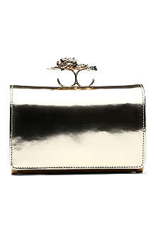 ROBERTO CAVALLI Clutch bag with dragon ring handle