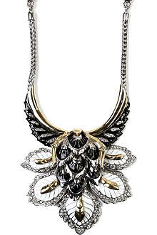 ROBERTO CAVALLI Leaves and wings necklace