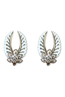 ROBERTO CAVALLI Leaves and wings earrings