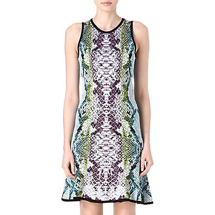 ROBERTO CAVALLI Python knitted dress (Turq