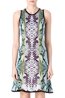 ROBERTO CAVALLI Python knitted dress