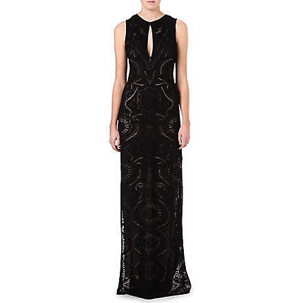 ROBERTO CAVALLI Knitted silk gown (Black