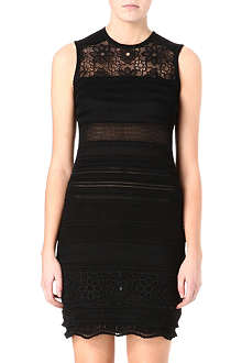 ROBERTO CAVALLI Knitted lace mini dress