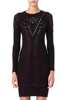 ROBERTO CAVALLI Studded knit dress