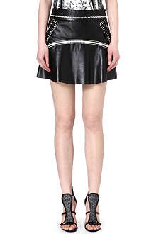 ROBERTO CAVALLI Leather mini skirt
