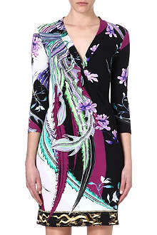 ROBERTO CAVALLI Slip-on crepe dress