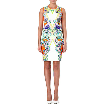 ROBERTO CAVALLI Stretch printed dress (Orange