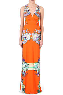 ROBERTO CAVALLI Printed stretch-jersey maxi dress