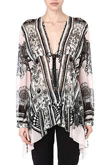 ROBERTO CAVALLI Silk tunic top