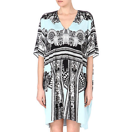 ROBERTO CAVALLI Printed kaftan dress (Blue