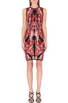 ROBERTO CAVALLI Sleeveless jacquard-knit dress