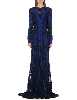 ROBERTO CAVALLI Long-sleeved knitted gown