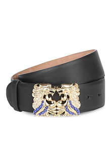 ROBERTO CAVALLI Dragon buckle leather belt