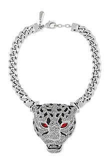 ROBERTO CAVALLI Jewelled panther choker chain