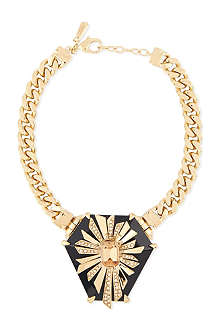 ROBERTO CAVALLI Large stone jewelled choker chain