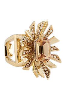 ROBERTO CAVALLI Large jewelled metal spray ring