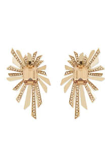 ROBERTO CAVALLI Jewelled clip-on metal spray earrings