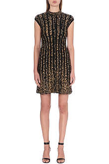 ROBERTO CAVALLI Knitted leopard-pattern dress